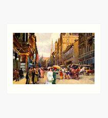 Great vintage belle epoque scene Vienna Austria Art Print