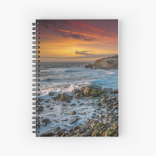Watershoot Bay St Catherines Isle Of Wight Spiral Notebook