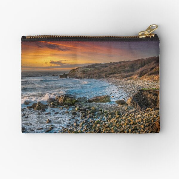 Watershoot Bay St Catherines Isle Of Wight Zipper Pouch