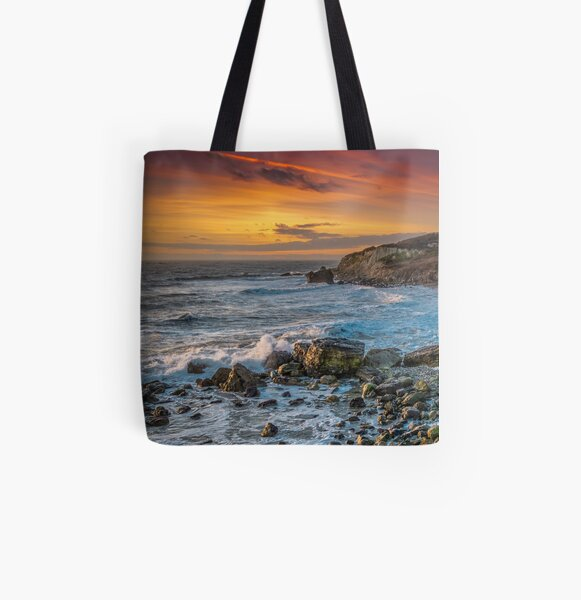 Watershoot Bay St Catherines Isle Of Wight All Over Print Tote Bag