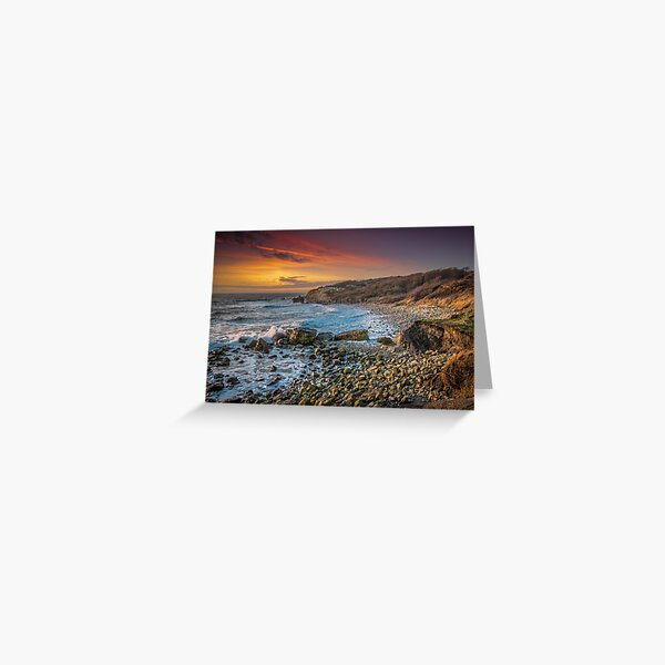 Watershoot Bay St Catherines Isle Of Wight Greeting Card