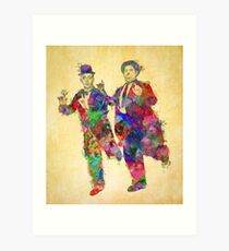 Stan Laurel and Oliver Hardy Art Print
