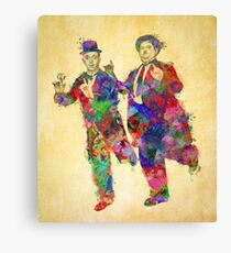 Stan Laurel and Oliver Hardy Canvas Print