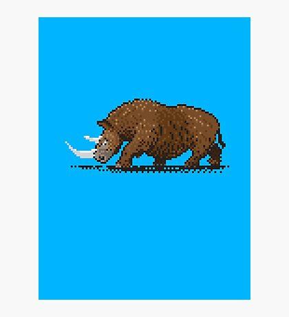 Prehistoric Pixels - Woolly Rhino  Photographic Print