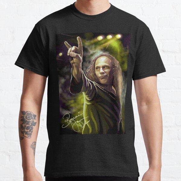 RONNIE JAMES DIO Men T-shirt Black Sabbath Tee Rainbow Shirt Elf Heaven /& Hell