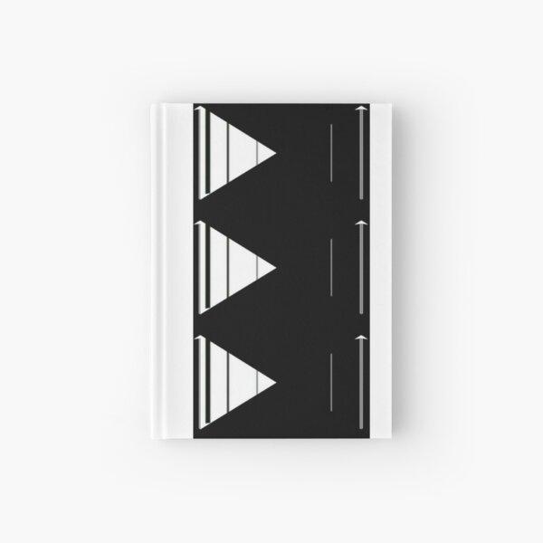 Geometric arrow modern design Hardcover Journal
