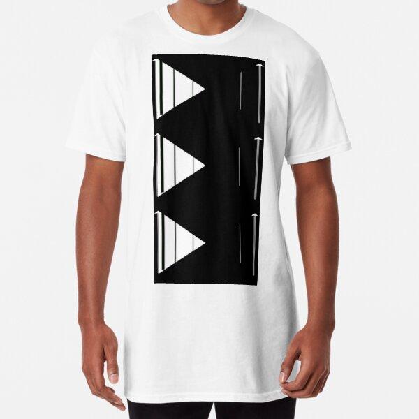 Geometric arrow modern design Long T-Shirt