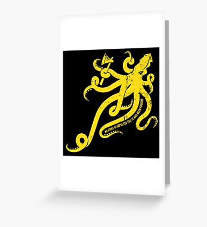 Asha Kraken Greeting Card