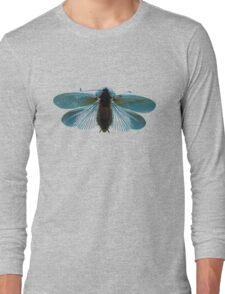 Blue Moth Long Sleeve T-Shirt