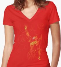 the map Women's Fitted V-Neck T-Shirt