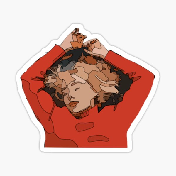 girl in red  Sticker