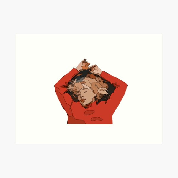 girl in red  Art Print