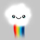 Happy Kawaii Rainbow Cloud by ohkissa