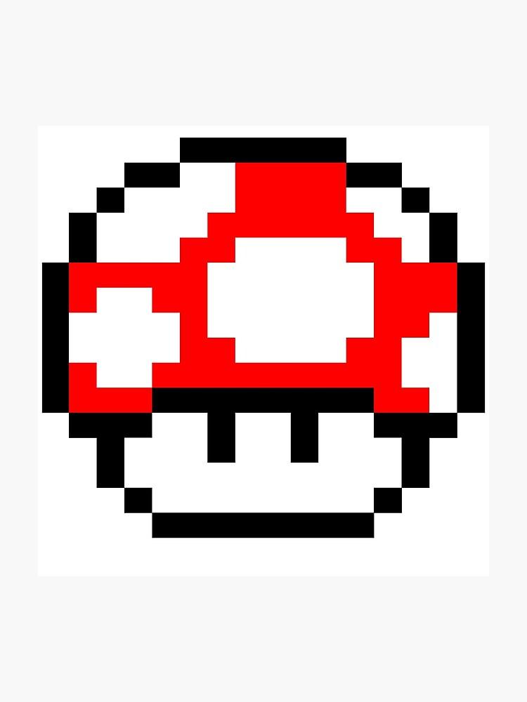 Super Mario Bros Mushroom Pixel Art Gallery Of Arts And Crafts