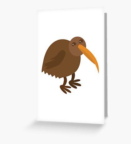 little brown kiwi bird Greeting Card