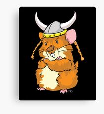 The Mighty Viking Hamster Canvas Print