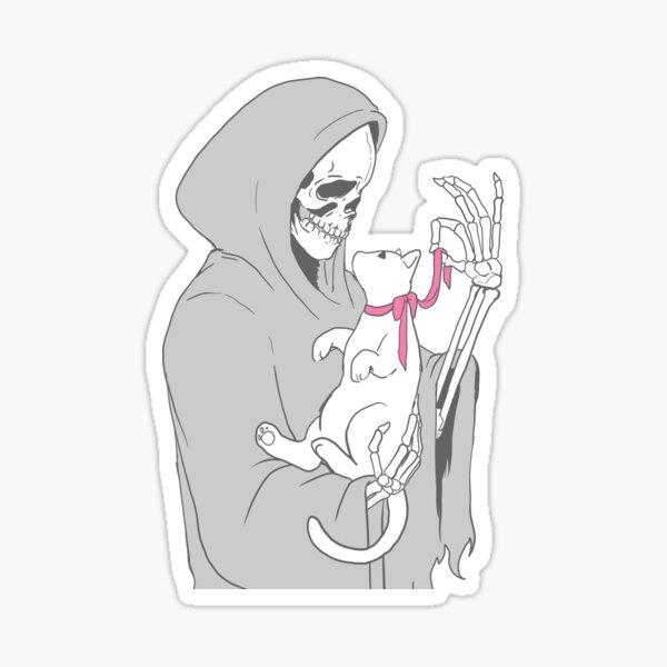 Schnitter mit Kätzchen Sticker