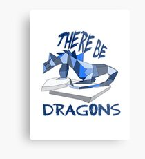 THERE BE DRAGONS Metal Print