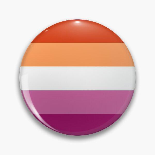 Lesbian (new) Pride Large Flag Print  Pin