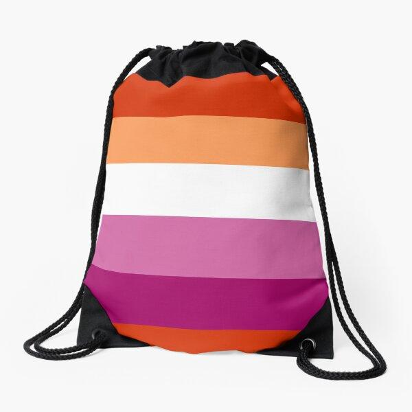 Lesbian (new) Pride Large Flag Print  Drawstring Bag