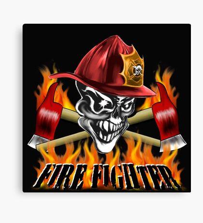 Fireman Skull Canvas Print