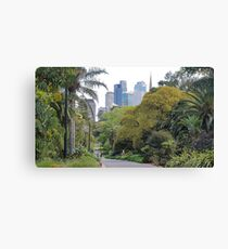 City amongst the trees Canvas Print