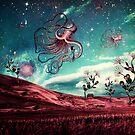 Sunrise Flight on Purple Planet by Paula Belle Flores