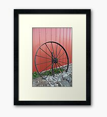 Vintage Wagon Wheel Framed Print