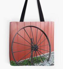 Vintage Wagon Wheel Tote Bag