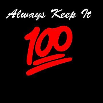 Keep it 100 Emoji Shirt alt by number23hta