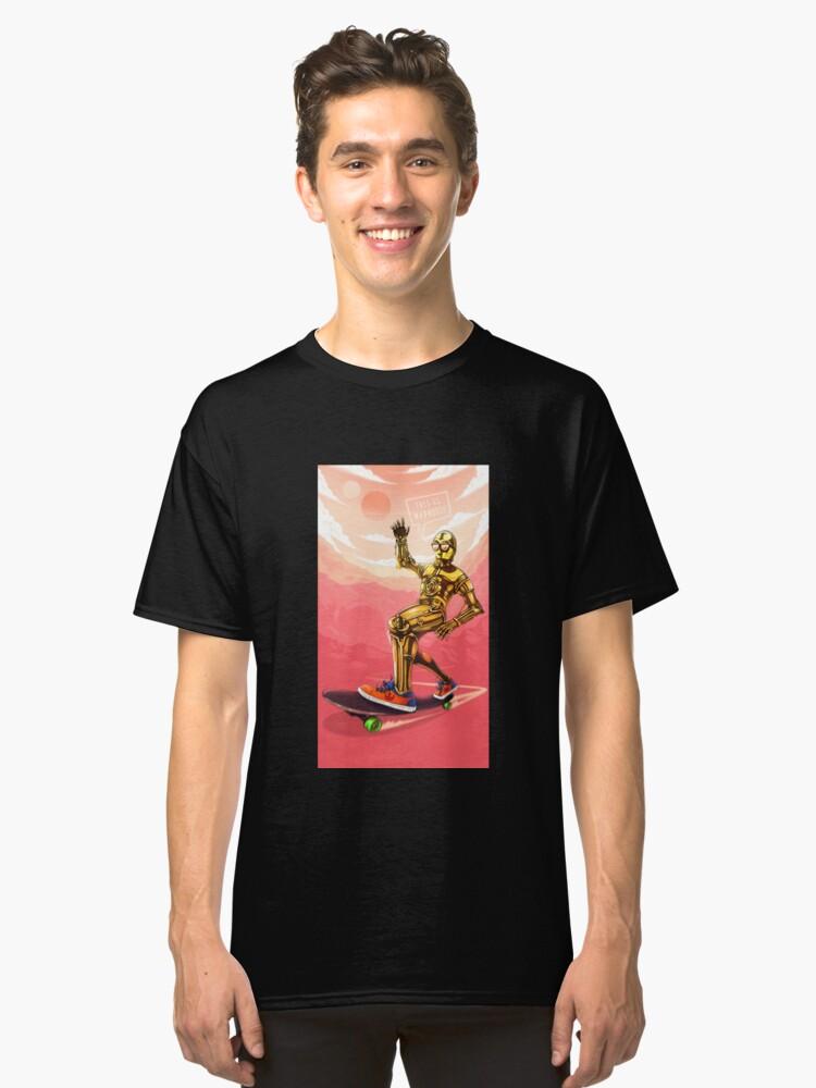 Alternate view of Robot shredding on a alien planet! Classic T-Shirt