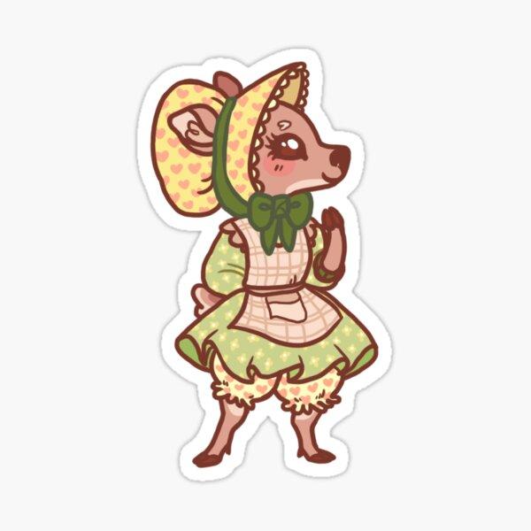 Illustrated Cottage Deer Sticker