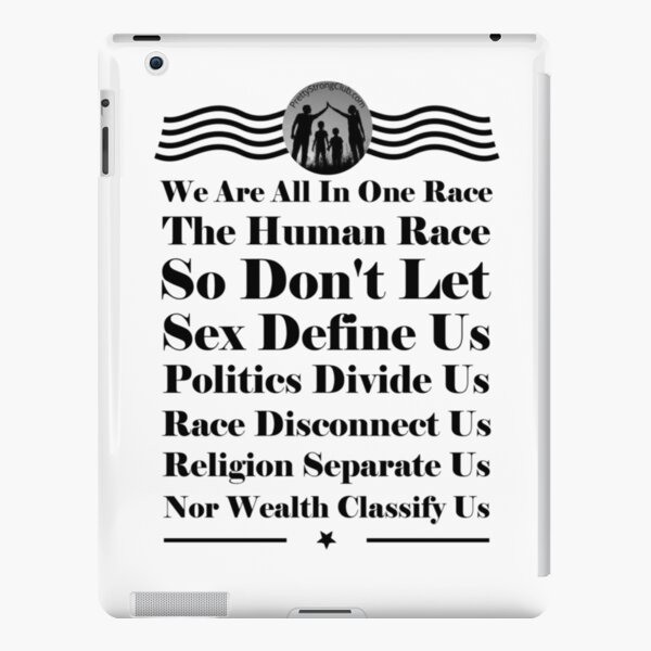 We Are All In One Race iPad Snap Case