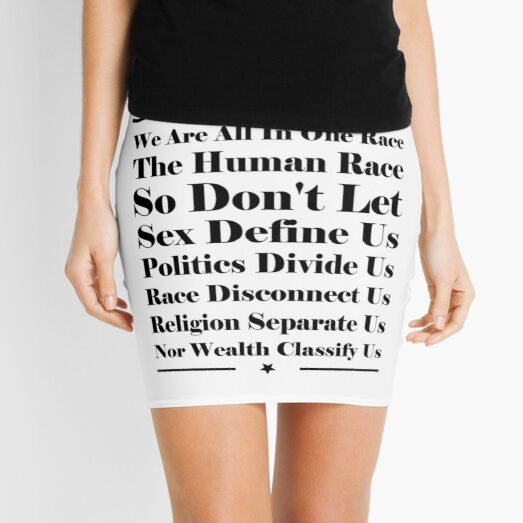 We Are All In One Race Mini Skirt