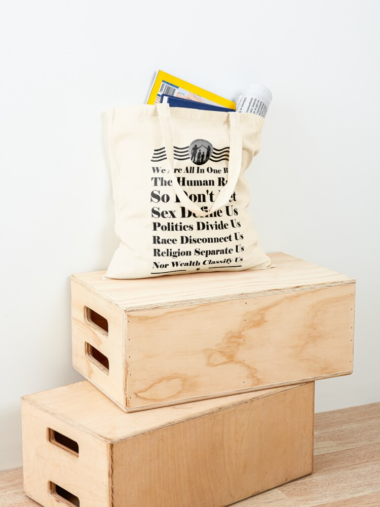 Alternate view of We Are All In One Race Tote Bag