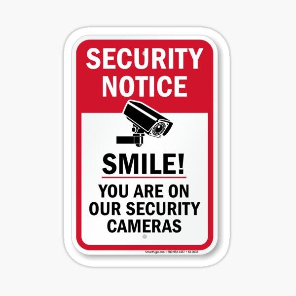 Smile youre on cctv Sticker