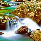 CASCADE AND BOULDERS by Chuck Wickham