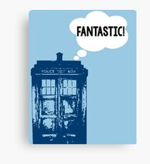 """FANTASTIC!"" - 9th Doctor Canvas Print"