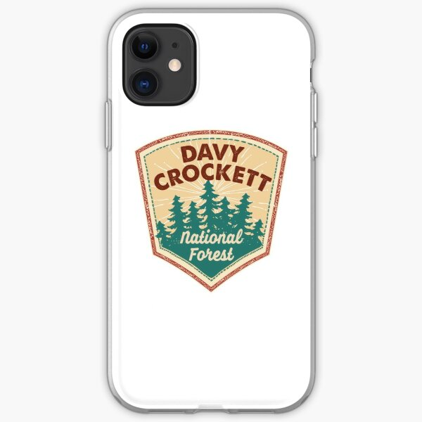 Davy Crockett National Forest shirt, sticker, gift (NNN) iPhone Soft Case