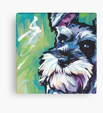 Schnauzer Bright colorful pop dog art Canvas Print
