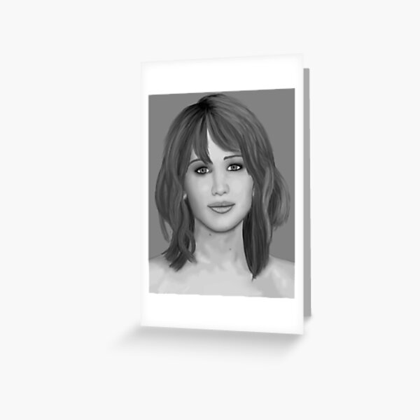 Jennifer Lawrence Greeting Card