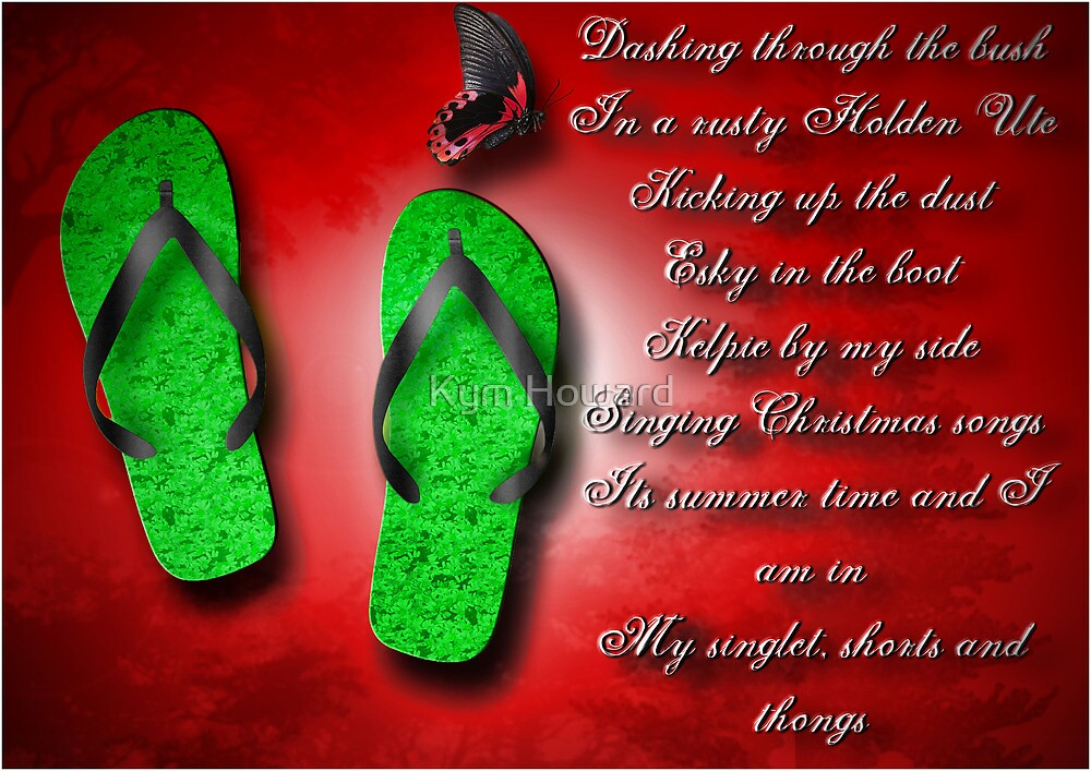 Aussie Christmas card by Kym Howard