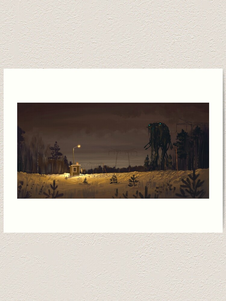 Alternate view of The Visitor Art Print