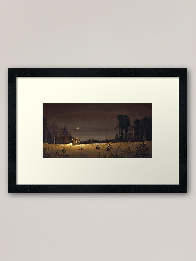 Alternate view of The Visitor Framed Art Print