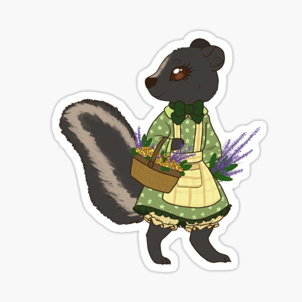 Country Skunk Sticker