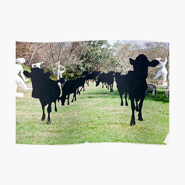 Black Cow Parade Poster