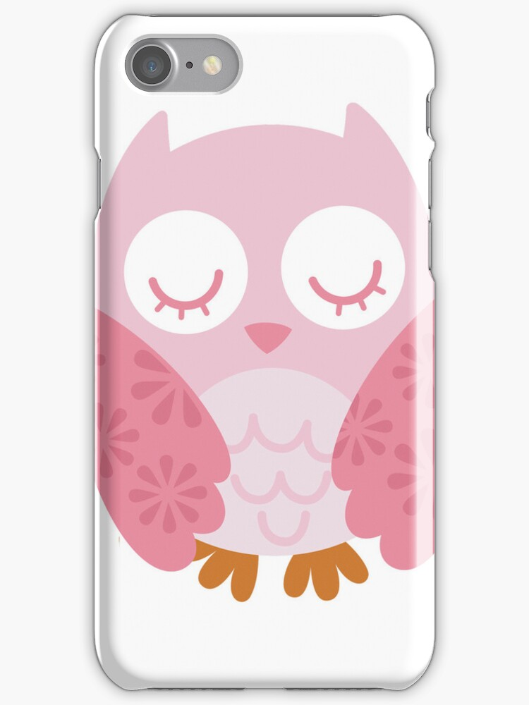 Pink Owl - iphone Case by Carol Knudsen