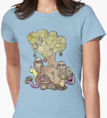 Elm Tree Womens Fitted T-Shirt