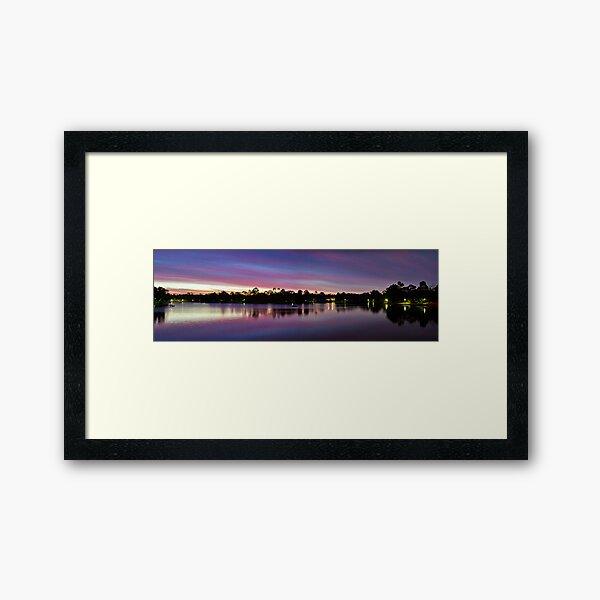 Natures Light Show Framed Art Print