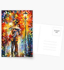 Kuss unter dem Regen - Leonid Afremov Postkarten
